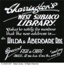 Advertisement for Charrington's West Subiaco Library