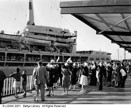 Southern Cross sailing from Fremantle, 1960