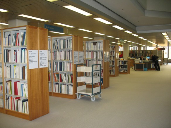 The music collection on the 2nd Floor of the State Library of Western Australia