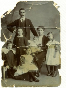 Charles Brown and family