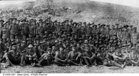16th Battalion AIF, originals left after Gallipoli, 1915.