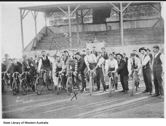 Cycle race, Mt Magnet to Black Range, c1908