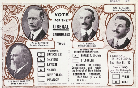 A how-to-vote card from 1915