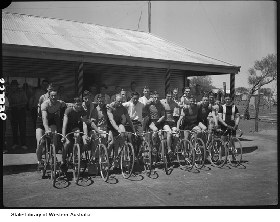 A Goldfields bicycle racing club of the thirties.
