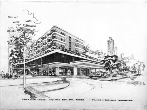 Architectural_drawing_Riverside_Lodge  Krantz and Sheldon Architects State Library of WA 340436PD
