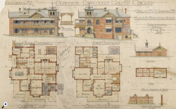 Proposed residence for JFT Hassell Esq.  State Library of Western Australia  ACC 7012A