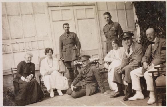 SLWA BA 780/37 Captain Bardwell seated on ground , 1917