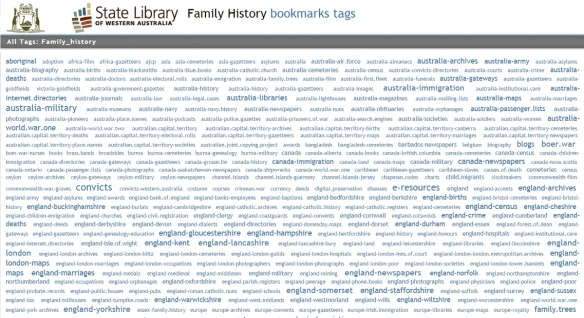 State Library family history bookmarks