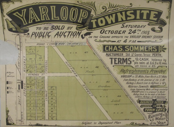Real estate plan Yarloop Townsite 1903