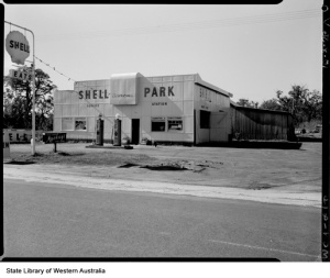Shell Park Service Station Yarloop proprietor L.A. Kennewell 1956 114188PD