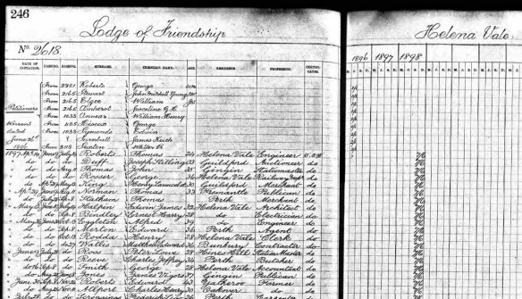 Helena Vale Freemasons Ancestry