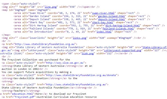 Freycinet website code