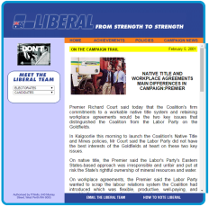 WA Liberal Party website, 2001