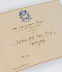 Government Printer Xmas and New Year Greetings 1912. PR11337