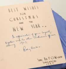 Christmas card 1943, Sime Rd POW camp. A.E. Saggers papers, ACC 5365A/13