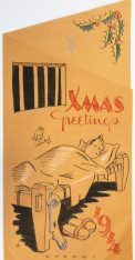 Xmas Greetings, 1944, Changi POW camp. A.E. Saggers papers, ACC 5365A/15