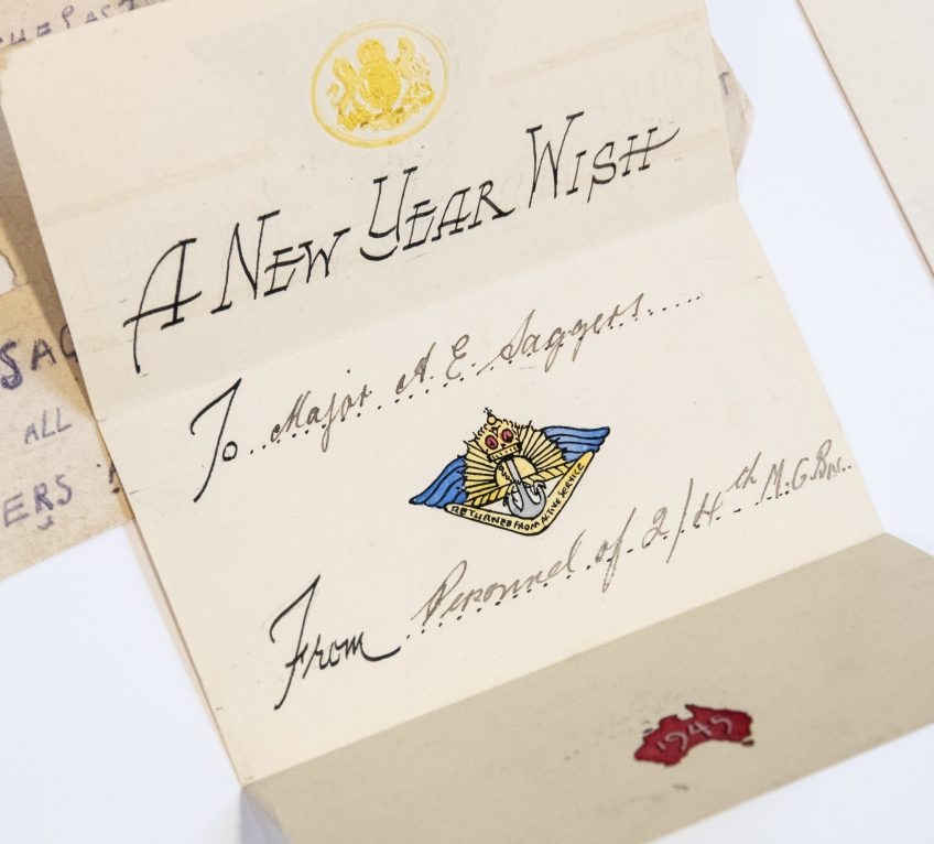 A New Year Wish, 1945. A.E. Saggers papers, ACC 5365A/15