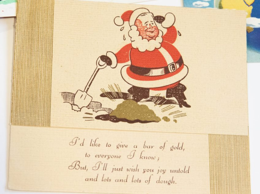 Dix Print Christmas card, ca. 1950s. Dix Print records, ACC 7649A/2