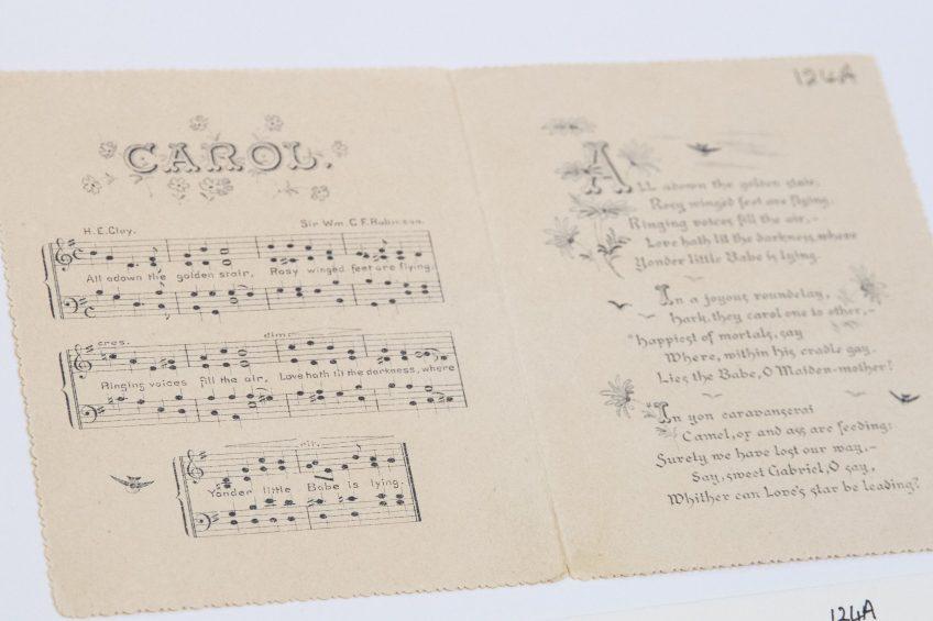 Christmas card ca. 1890. ACC 124A