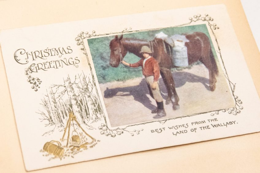Christmas Greetings, best wishes from the Land of the Wallaby. Album of greeting cards, Young Australia League records, ACC 7292A/86
