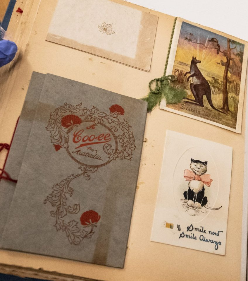 Album of greeting cards, Young Australia League records, ACC 7292A/86