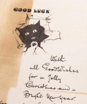 Good luck. Album of greeting cards, Young Australia League records, ACC 7292A/86